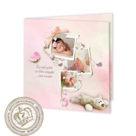 Geboortekaartje LG112 FC2 Pink