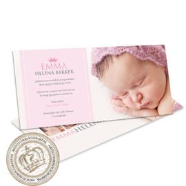Geboortekaartje LC146 Pink