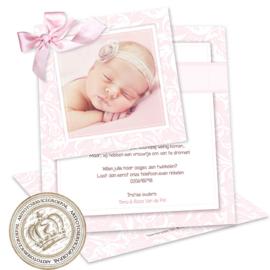 Geboortekaartje LG072 DS Pink