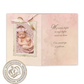 Geboortekaartje LG912 DD Pink