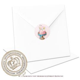 Sluitzegel Geboortekaartje SLZ027 Pink