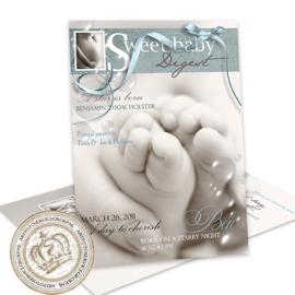 Geboortekaartje LG266 Blue (Magazine Cover)