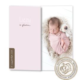 Geboortekaartje LG227 DD Pink