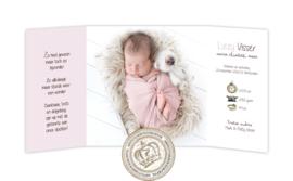 Geboortekaartje GB227 DD Pink