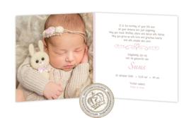 Geboortekaartje LG217 FC2 Pink