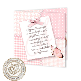 Geboortekaartje LG701 FC2 Pink