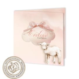 Geboortekaartje LG012 FC2 Pink