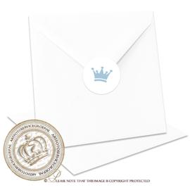 Sluitzegel Geboortekaartje SLZ015 Blue