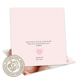 Geboortekaartje LG108 Pink