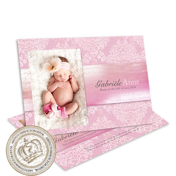 Geboortekaartje LG189B Pink