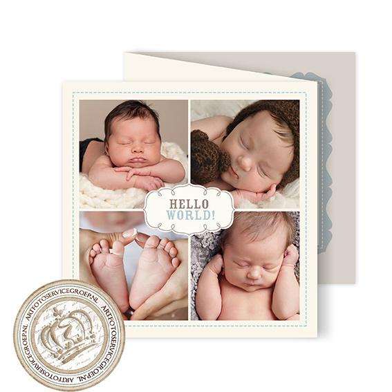 Geboortekaartje LG010 FC3 Blue