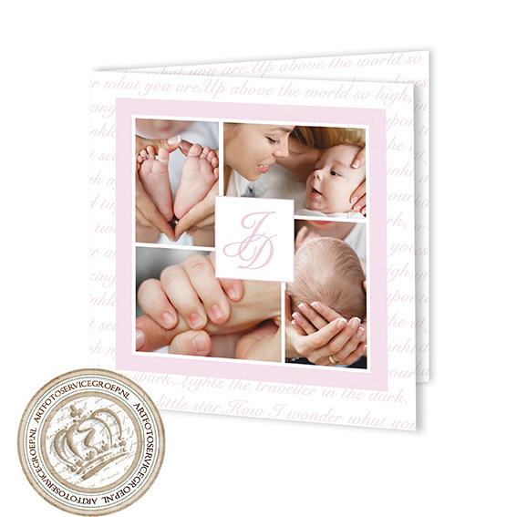 Geboortekaartje LG135 FC2 Pink