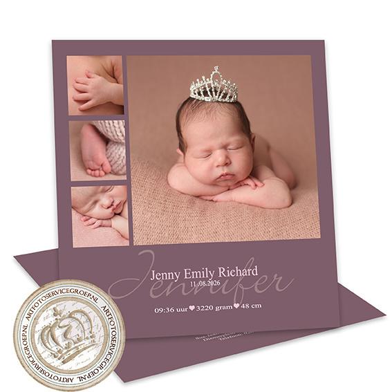 Geboortekaartje LG052 Pink