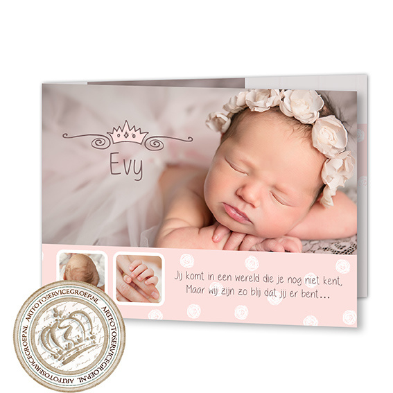 Geboortekaartje LG945 FC2 Girl