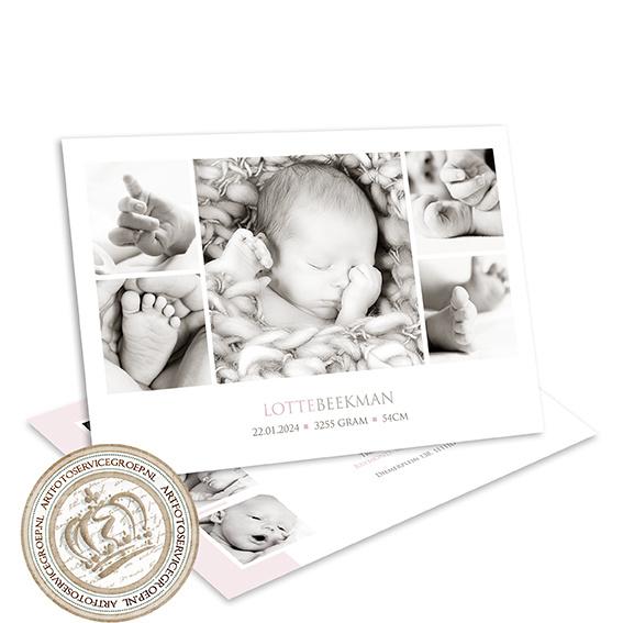Geboortekaartje LG001 Pink