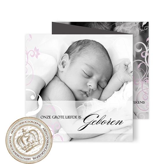 Geboortekaartje LG192 FC3 Pink