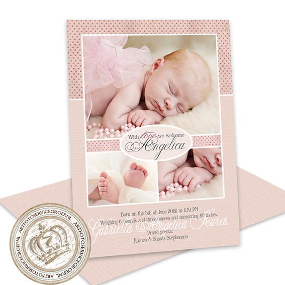 Geboortekaartje LG711 Pink