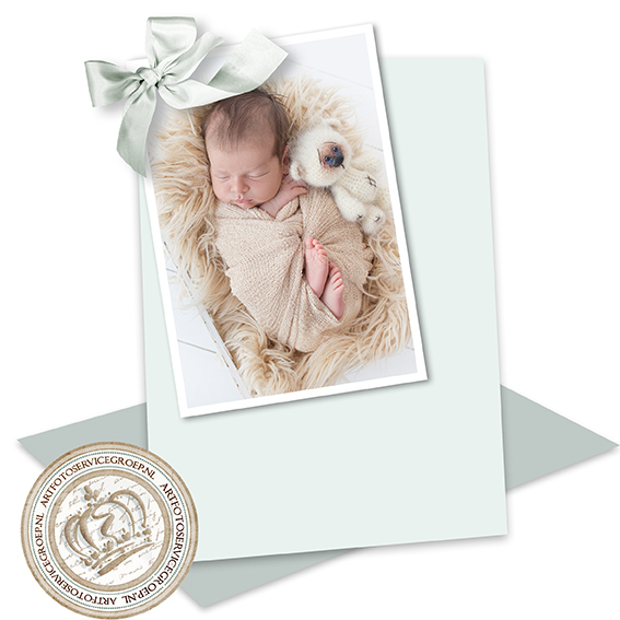2 Enkele geboortekaartjes - staand