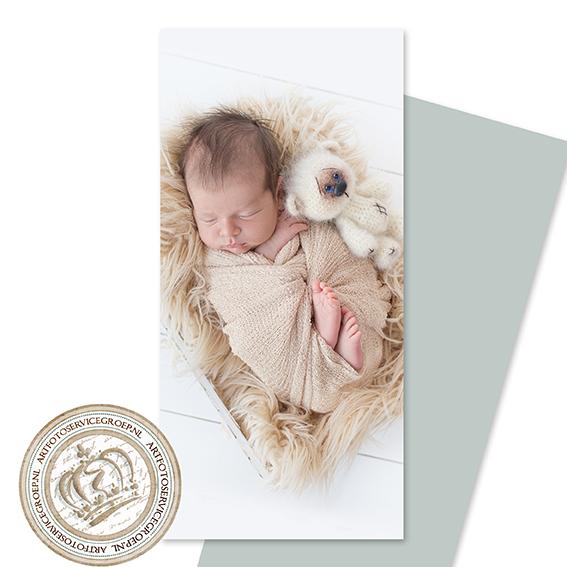 Enkel geboortekaartje - langwerpig staand