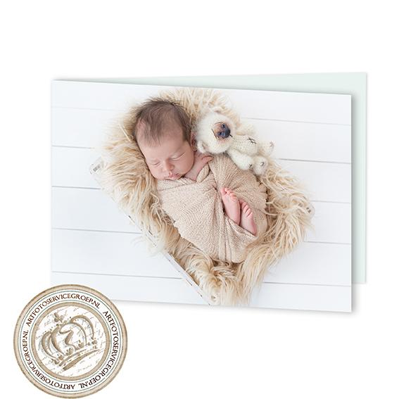 Gevouwen geboortekaartje - liggend