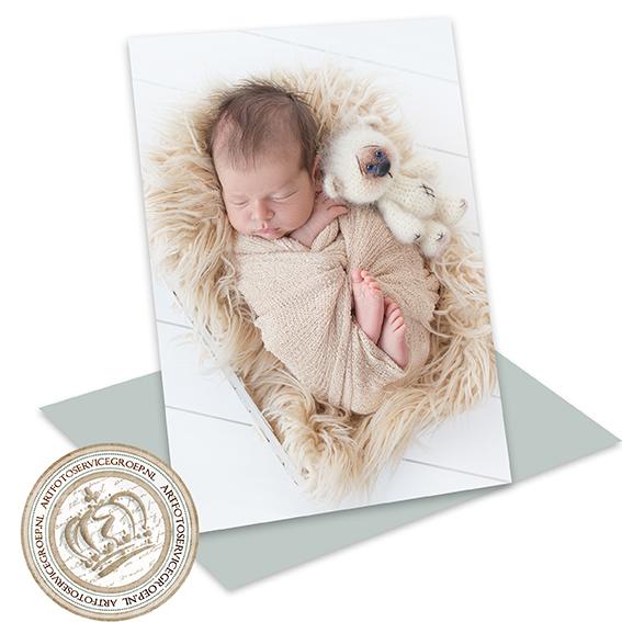 Enkel geboortekaartje - staand