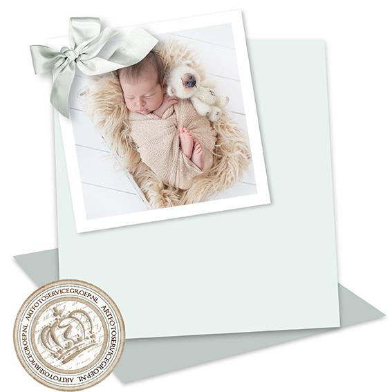 2 Enkele geboortekaartjes - vierkant