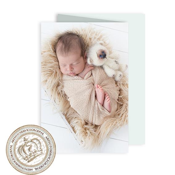 Drieluik geboortekaartje - staand