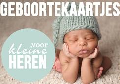 Foto geboortekaartjes voor jongens