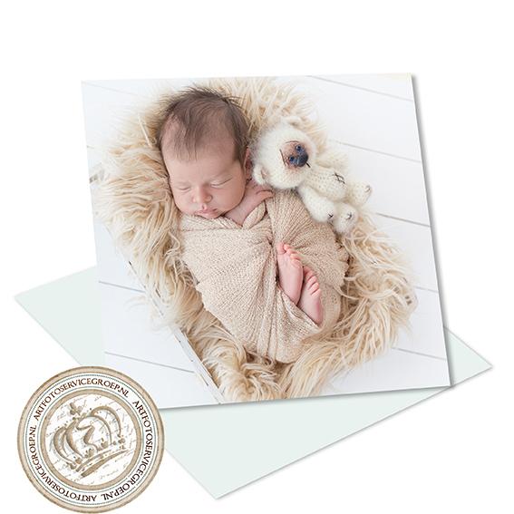 Enkel geboortekaartje - vierkant
