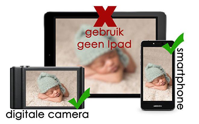 Maak de foto met een smartphone of een camera
