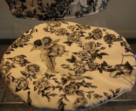 Theepot onderlegger engelenprint in barok.