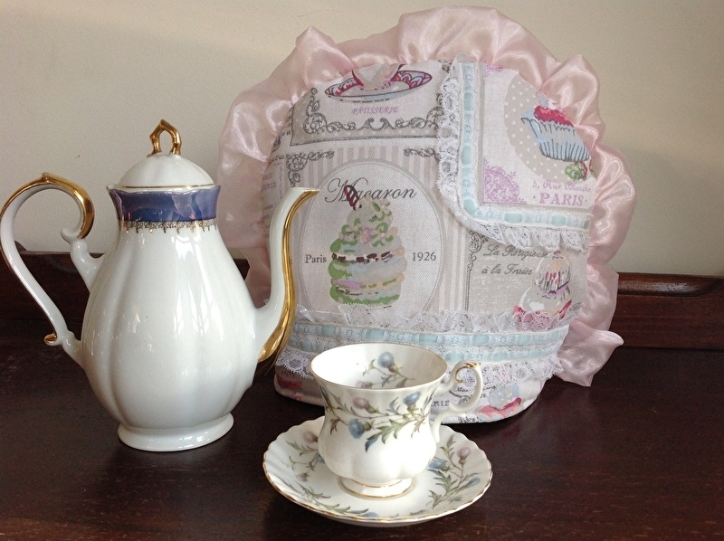 High tea in pastel