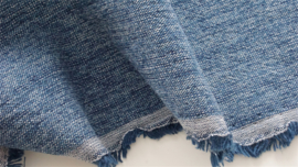 JAPANESE YARN DYED Cotton blended blue