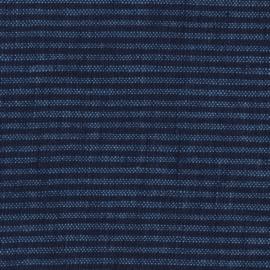 MONDAYSMILK Linen Stripe denim and navy