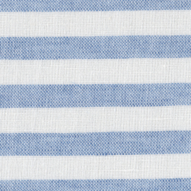 MONDAYSMILK Cotton Linen Stripe milk and blue