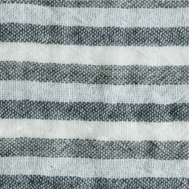 KOKKA Washed Double Gauze Stripe black