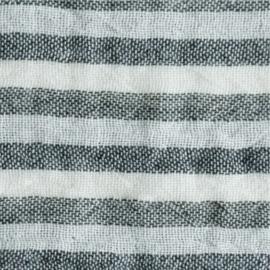 KOKKA Washed Double Gauze Stripe black