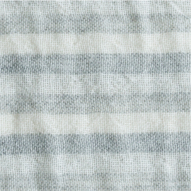 KOKKA Washed Double Gauze Stripe grey