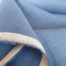ATELIER MUSUBI Thick Linen denim blue
