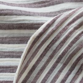 KOKKA Washed Double Gauze Stripe burgundy
