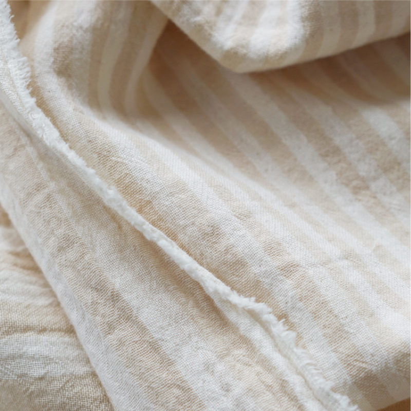 KOKKA Washed Double Gauze Stripe oat