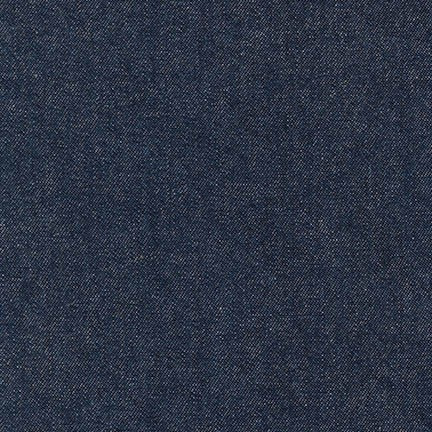ROBERT KAUFMAN Indigo Denim 8 oz indigo washed