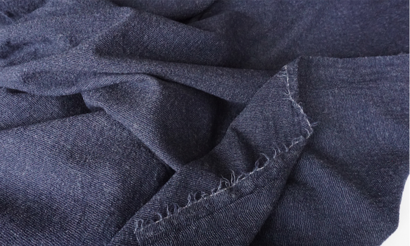 JAPANESE YARN DYED WOOL GAUZE stripe navy