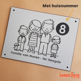 Huisnaambordje voor de familie van Nunen - Ter Heegde