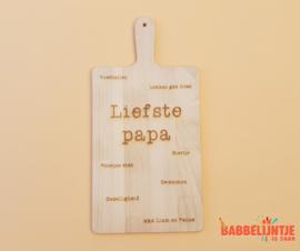 Houten plank voor papa of opa