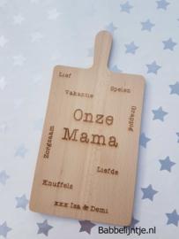 Plank voor Moederdag (voor mama of oma) Groot