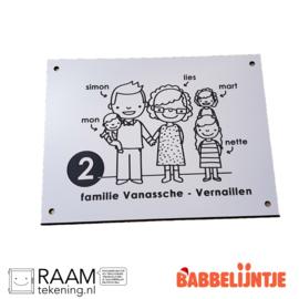 Een Huisnaambordje voor de familie Vanassche-Vernaillen