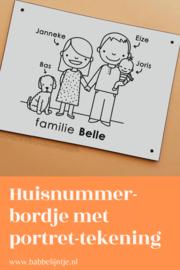 Huisnummerbordje Familie Belle