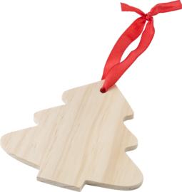 Blanco Kerstboom voor houtbranden of pyrografie