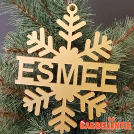 Kersthanger IJskristal in het goud voor Esmee (1-11-2020)